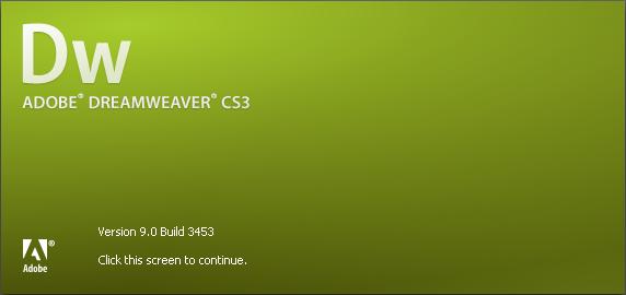 Adobe Dreamweaver CS3 about